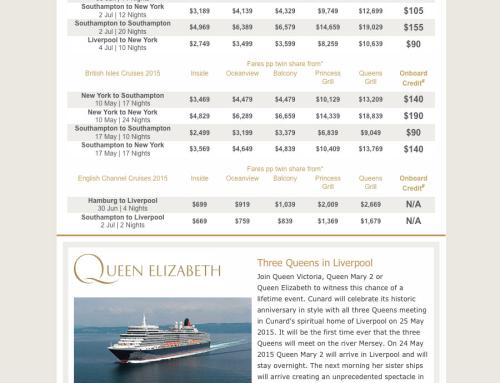 Cunard Anniversary Sale eDM