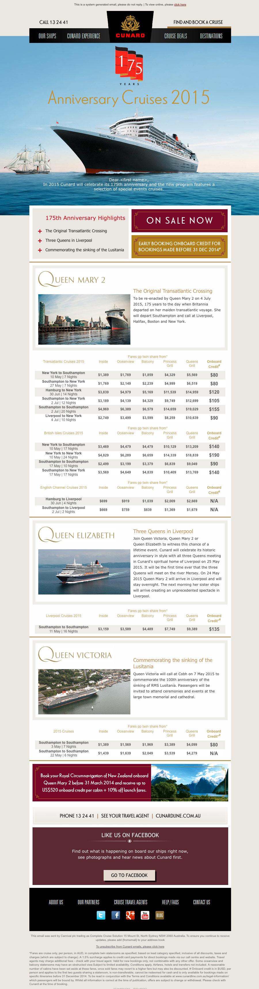 Cunard eDM
