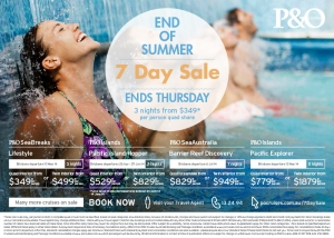 P&O 7 Day Sale Press Ad
