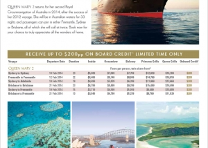 Cunard Queen's Birthday Sale