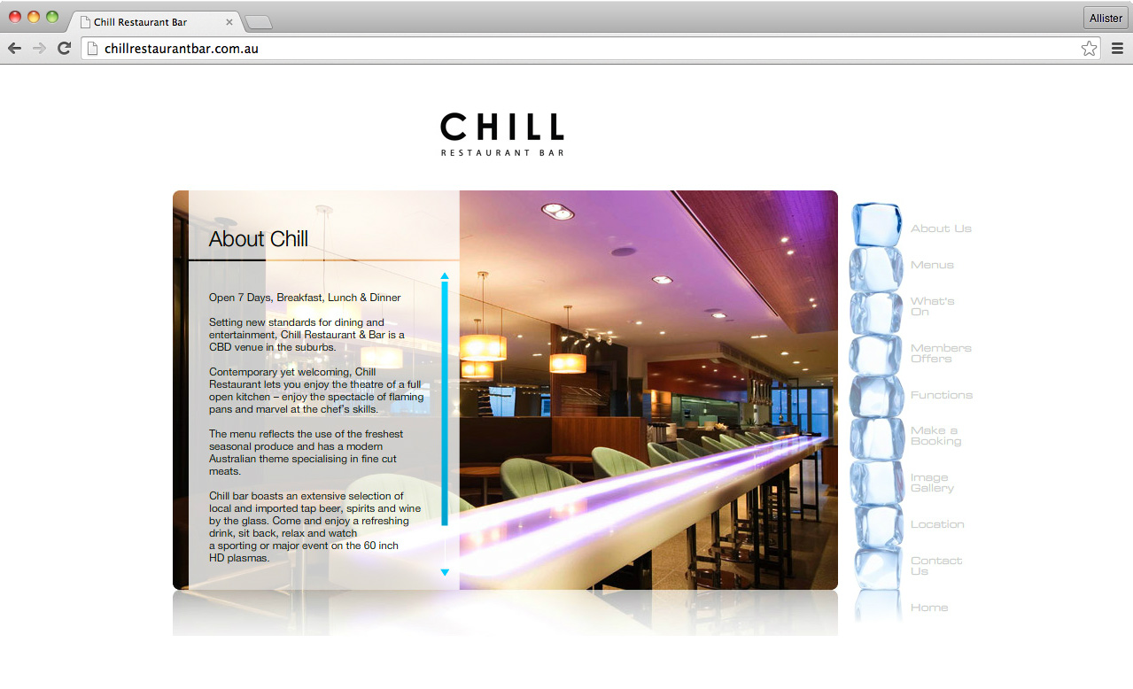 Chill About Us page