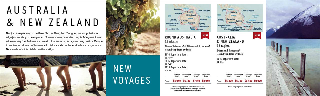 Princess Cruises Long Voyages direct mail brochure