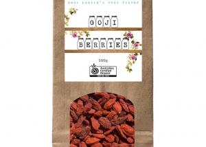 Organic Whispers Goji Berries Packaging