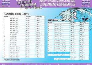 nudie ABB NATIONAL-FINAL RUNNING SCHEDULE