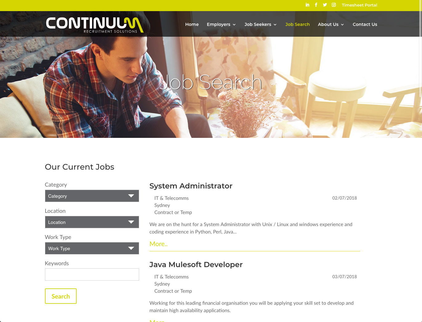 Continuum Recruitment Website