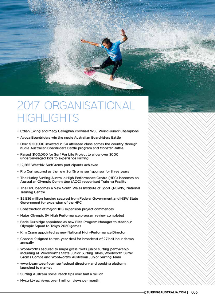 Surfing Australia 2017 Annual Report