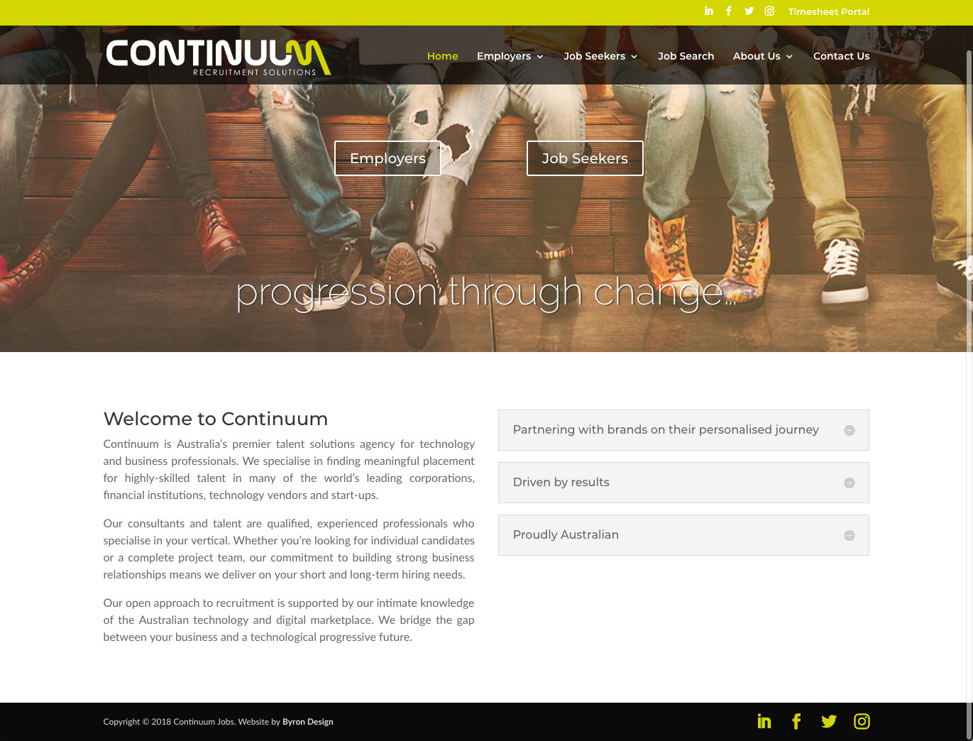 Continuum Recruitment Website
