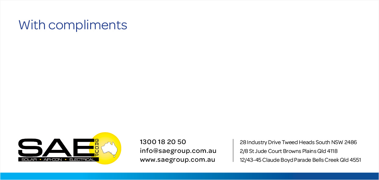 SAE Group Compliments Slip