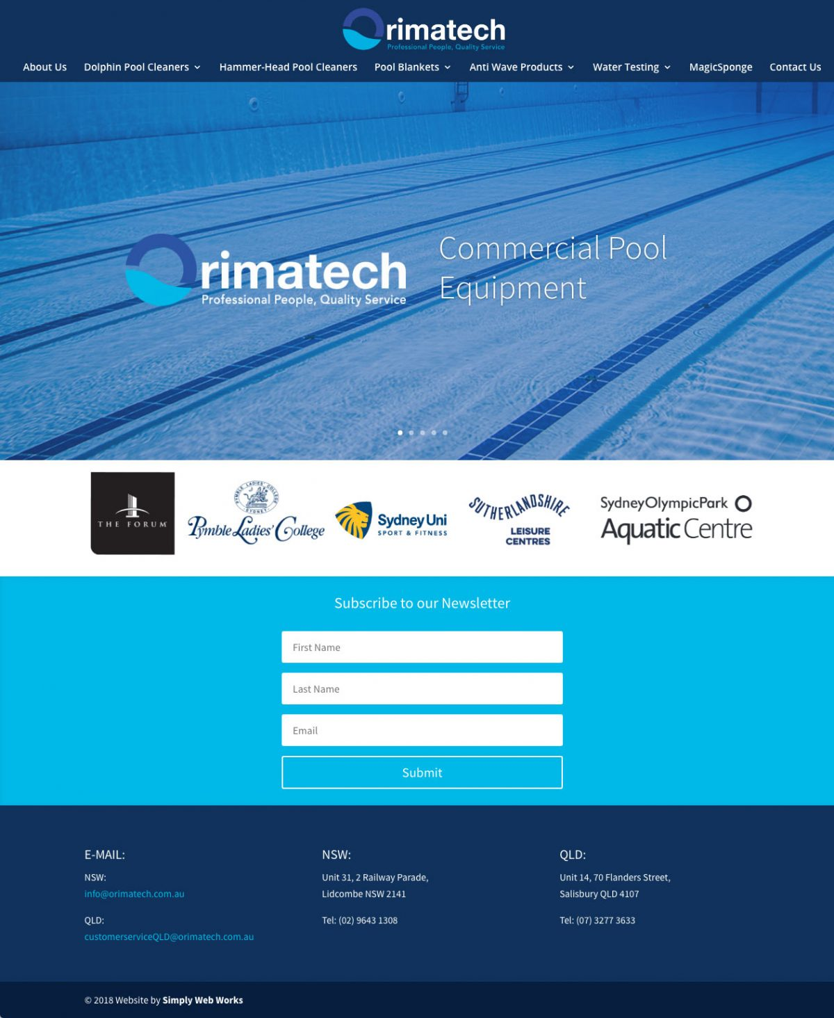 Orimatech WordPress Website