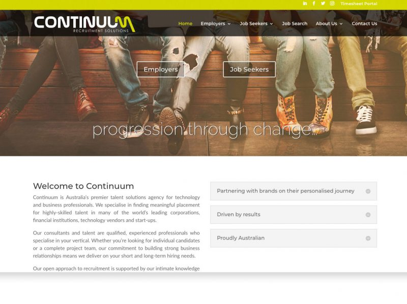 Byron Web WordPress Websites - Continuum Recruitment