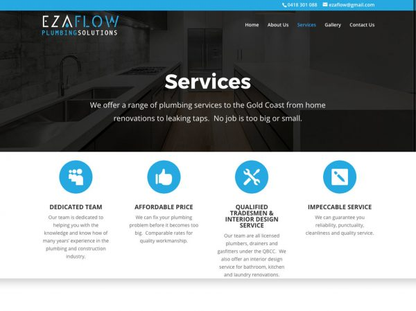 Byron Web WordPress Websites - EzaFlow
