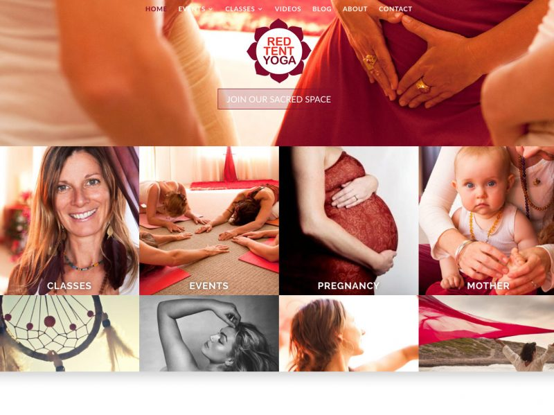 Byron Web WordPress Websites - Red Tent Yoga