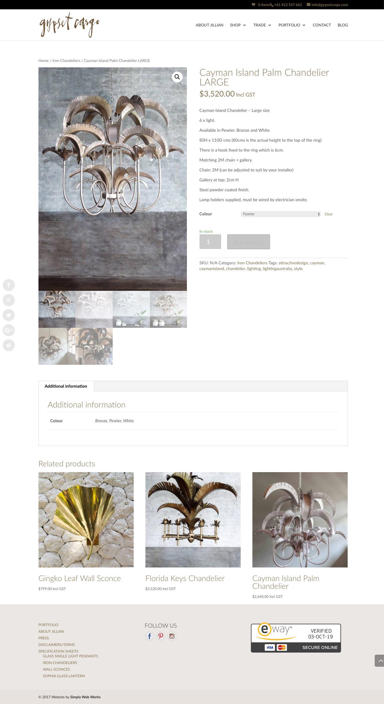 Gypset Cargo WordPress Website