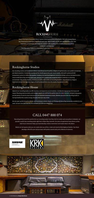 RockingHorse Studios WordPress Website