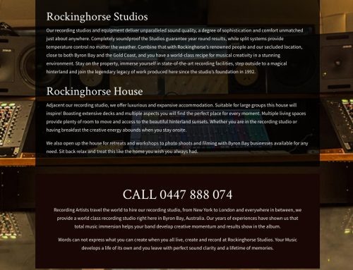 RockingHorse Studios Website